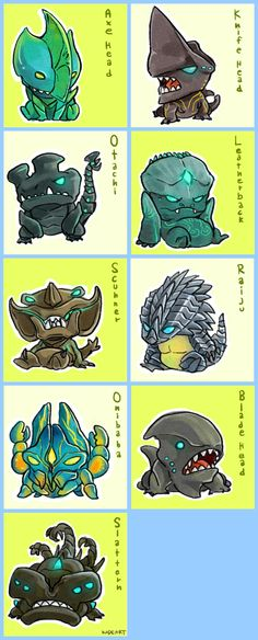 Chibi Kaiju! makes them look like ugly little lizards you would keep in an aquarium, doesn't it?