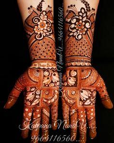 Modern Henna Designs, Mehndi Designs Book, Mehndi Designs For Girls, Mehndi Design Pictures, Dulhan Mehndi Designs, Wedding Mehndi Designs, Mehndi Designs For Fingers, Henna Tattoo Designs, Mehndi Images