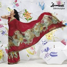 """Center portion of this maroon saree is expressive design ever... """"You ROCK! """" When you wear this saree"""
