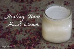 Healing Rose Hand Cream 1 1/2 cups coconut oil 1 cup rose water or distilled water 3 TBS grated beeswax 1/4 cup cup dried calendula blossoms 1/4 cup dried rose petals
