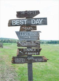 rustic farm wedding sign / http://www.himisspuff.com/rustic-wedding-signs-ideas/7/