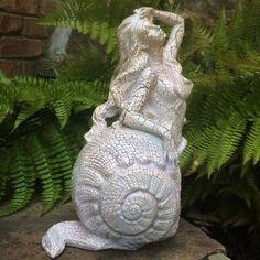 HomeStyles Life's a Beach Poseidon Ruler of the Sea Mermaid on Nautical Rock Statue & Reviews   Wayfair Gnome Statues, Garden Statues, Poseidon Statue, Dragon Garden, Pagoda Garden, Bird Types, Sea Snail, Mermaids And Mermen, Lanterns Decor