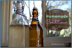 DIY Hair Shampoo Recipes ~ Homemade Conditioner For Hair; Homemade conditioner for your hair is inexpensive and easy to make. You will only need two ingredients, an empty bottle, and an adventurous heart. Homemade Hair Conditioner, Homemade Shampoo, Shampoo And Conditioner, Dog Shampoo, Homemade Facials, Homemade Soaps, Diy Beauty, Beauty Hacks, Beauty Ideas