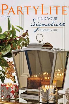 PartyLite Fall Catalog! Signature 3-wick jar candles, tealights, votives, pillars and LEDs, flameless fragrance and home decor!