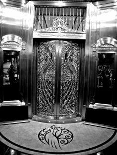 Elaborate Art Deco Peacock Doors - Palmer House Hilton   Flickr - Photo Sharing!