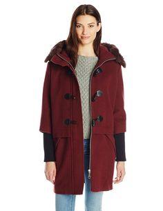 Happy Janes Blog: Rebecca Minkoff Women's Scotch Wool Fur Trim Coat