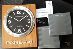 """Small Wrists? Just Nail It!"" Officine #Panerai 20cm Luminor Wall Clock Quartz, 2012 Ref#: PAM 255 * EMAIL or CALL for INQUIRIES! http://www.elementintime.com/Officine-Panerai-Wall-Clock-Luminor-PAM-255-Stainless-Steel-200mm"
