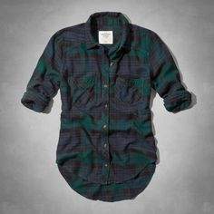 new concept 1e1a4 76da3 Benni Flannel Shirt from Abercrombie  amp  Fitch Plaid Flannel, Green  Flannel Shirt, Flannel