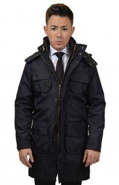 Fekete Karcsúsított Kabát