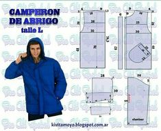 Sewing Men, Sewing Clothes, Diy Clothes, Clothing Patterns, Dress Patterns, Sewing Patterns, T Shorts, How To Make Clothes, Jacket Pattern