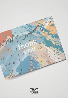 Carte Bleu Merci, Cartes de Remerciement Imprimables, French Printable Thank You Card, Watercolour W