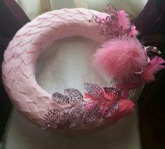Breast Cancer Awareness wreath by Sabrina Bess LMW