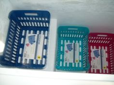 Simple solution to organize those chest freezers. Why haven't I thought of this before? No more guessing what is in the bag or how to go through 50 lbs + frozen thingys only to realize your never going to fit all of it back in!