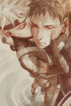 "Kakashi and Obito - ""It's gonna be alright, because you're you. You're Obito..."""