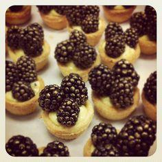 Lemon Tart, blackberry, gold dust