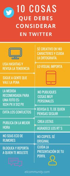 10 cosas que debes considerar en Twitter #infografia #infographic #socialmedia