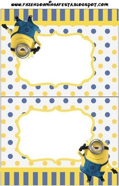 Inspired in Minions Party Invitations, Free Printables.