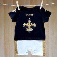 Saints Baby Fan Jersey Romper