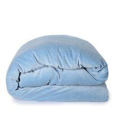 Dusk Blue Velvet Quilt Cover.   huntingforgeorge.com