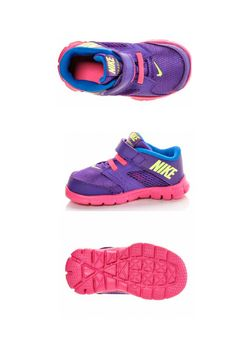 A cute purple pair of  @Nike sneakers for running, jumping and playing around! #nike #flex #purple #little #girls #style #ideas  #sneakers