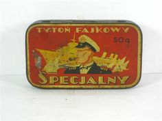An Old tobacco Tin from Poland called Tyton Fajkowy Specjalny 50gm, a Maritime related picture from around the 1930ties, quite rare and in my Collection
