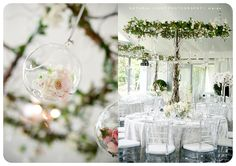 A rustic-romantic wedding day at Sunstone Winery with white bridesmaids dresses, leaf place cards, and an al fresco reception. Garden Roses Wedding, Rose Wedding, Floral Wedding, Wedding Day, Wedding Vintage, Classic Romantic Wedding, Romantic Wedding Inspiration, Peach Wedding Centerpieces, Floral Centerpieces