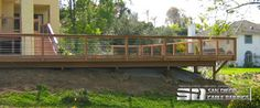 Cable railing on hillside deck - modern - fencing - san diego - by San Diego Cable Railings