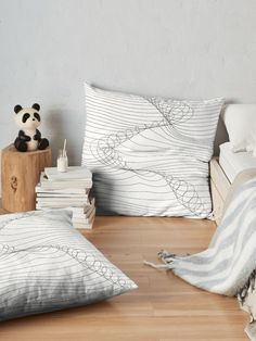 """""""Monochrome faces of kittens"""" Floor Pillow by alijun Floor Pillows, Bed Pillows, Cushions, Shabby Chic Furniture, Bedroom Furniture, Blue Tiles, Line Patterns, Furniture Projects, Pillow Design"""