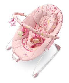 Take a look at this Pretty in Pink Meadow Blossoms Bouncer by InGenuity by Bright Starts on #zulily today!