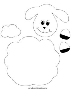 Sheep with Cotton Pad Sheep Crafts, Felt Crafts, Diy And Crafts, Arts And Crafts, Bible Crafts For Kids, Preschool Crafts, Art For Kids, Preschool Kindergarten, Easter Art