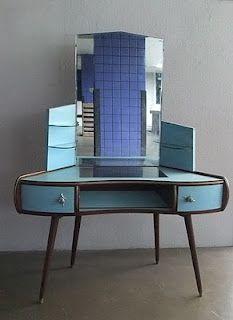 Art Deco meets Mid-Century Modern in Vintage Vanity