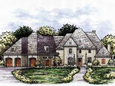Elegant European Home with Oversized Garage - 15420HN | European, French Country, Luxury, 1st Floor Master Suite, Butler Walk-in Pantry, Den-Office-Library-Study, In-Law Suite, Jack & Jill Bath, MBR Sitting Area, Media-Game-Home Theater, PDF | Architectural Designs