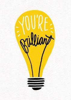 You're Brilliant | Personalised Congratulations Card
