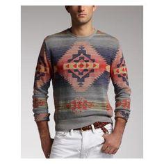 Polo Ralph Lauren Southwestern Linen-Blend Sweater