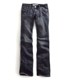 Blue Multi-Stitch Embroidered Jeans