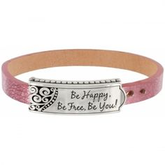 Be Happy, Be Free, Be You Bracelet  available at #Brighton