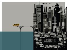 gig poster, children, fire poster, invis creatur, concert posters, design, the band, arcad fire, arcade fire