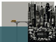gig poster arcade fire