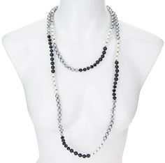 Shades of Grey Beaded Necklace