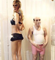 """Uglys """"lindos"""" da Hans Boodt. No Brasil você só encontra na Expor Manequins. Essa vitrine é da loja Empório Loba em Joinville."""