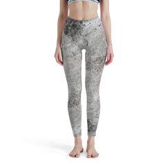 Fanteecy Women Printed Yoga Pants Leggings Training Sport Workouts Fitness Pants Capris Thicken Winter Tighs