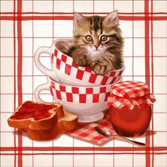 Check out the deal on Cazenave Kitten Kitchen Ceramic Accent & Decor Tile - MC2-003aAT at Artwork On Tile Online Storefront