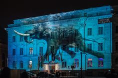 Hotel de Rome / Die Illumination Hotel de Rome zu Festival of lights in Berlin 2014