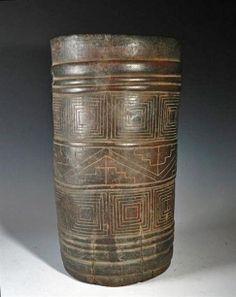 Massive Pre-Columbian Inca Wooden Kero