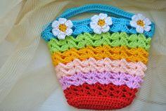 Colorful Bag Tutorial + Free Bonus   Beautiful Crochet Stuff