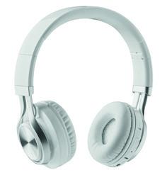 Auriculares Bluetooth 4.2 en ABS. Duración de reproducción estimada: 6 horas. Batería recargable Li-Po 300mAh. Incluye cable jack y cable de carga microUSB