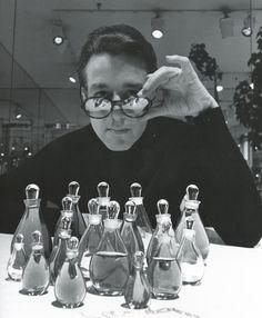 Halston and his Elsa Peretti designed fragrance bottles.
