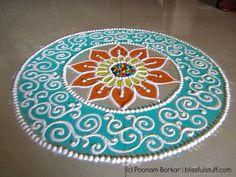 Beautiful and unique rangoli design for Diwali | Poonam Borkar Rangoli D...