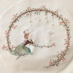 Herb Embroidery, Diy Embroidery Patterns, Hand Embroidery Stitches, Modern Embroidery, Ribbon Embroidery, Cross Stitch Embroidery, Thread Painting, Needlework, Stitching