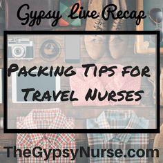 travel nurse #gypsyNurse #packing tips #traveler